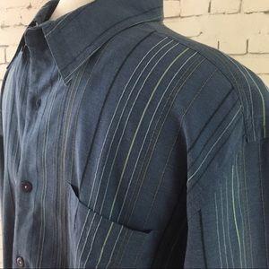 Tommy Bahama Long Sleeve Stripe Shirt Sz L